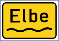 Die Elbe (in) between