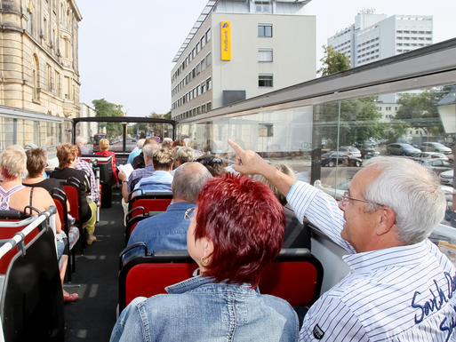 Interner Link: A Guided Bus Tour of Magdeburg