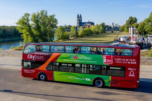 Magdeburg: Stadtrundfahrt mit dem Doppeldeckerbus