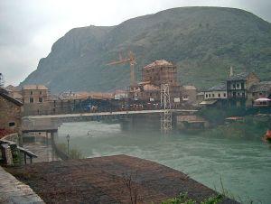 Mostar - Blick über die Neretva