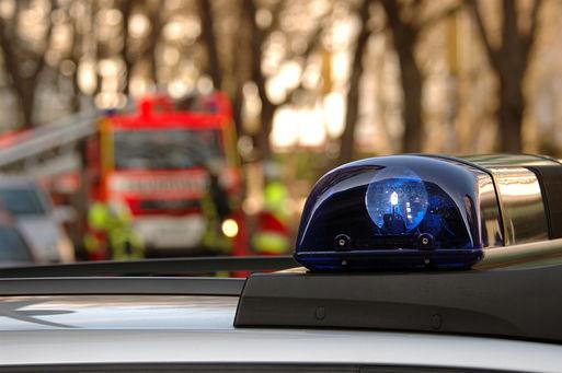 Einsatz Feuerwehr und Polizei  Quelle: Kai Krueger - Fotolia
