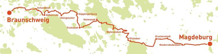 Städtepartnerschaftsradweg, Karte SPR