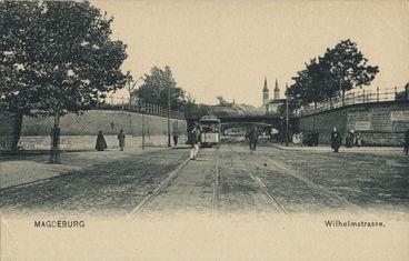 Wilhelmstra�e Blick nach Osten um 1905 - Archiv Dr. Schmietendorf