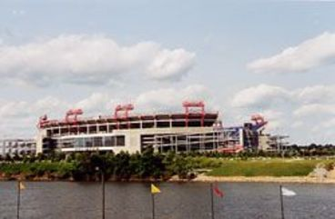 Blick auf das Stadion