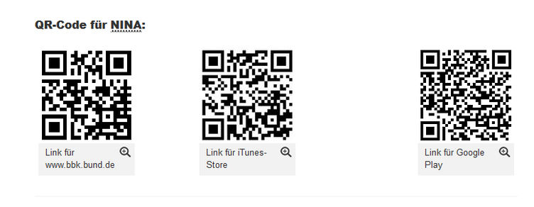 QR-Code zum Herunterladen der Warn-App NINA