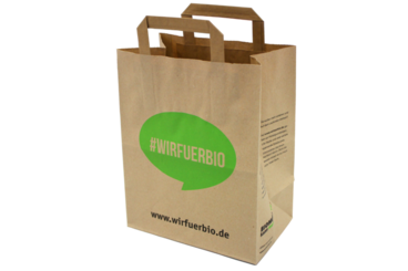 #wirfuerbio Papiertüte für Bioabfall