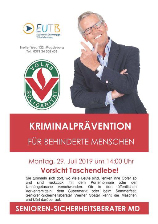 Kriminalpävention Juli 2019
