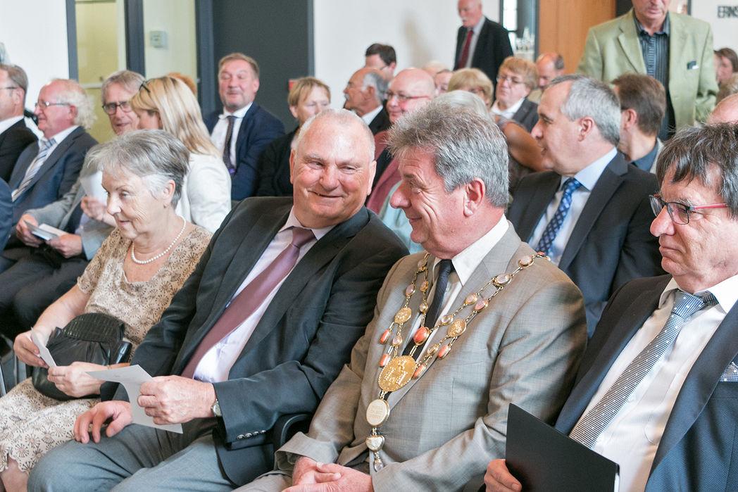 Gerhard Unger im Gespräch mit Oberbürgermeister Trümper