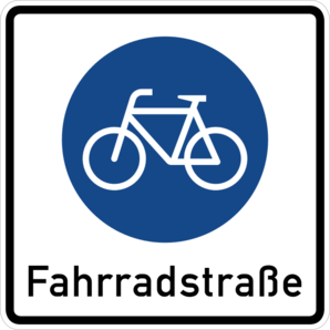 Fahrradstraße - Goethestraße - Beginn