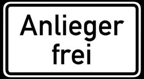 Fahrradstraße - Goethestraße - Anlieger