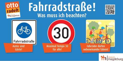Fahrradstraße - Goethestraße - Poster
