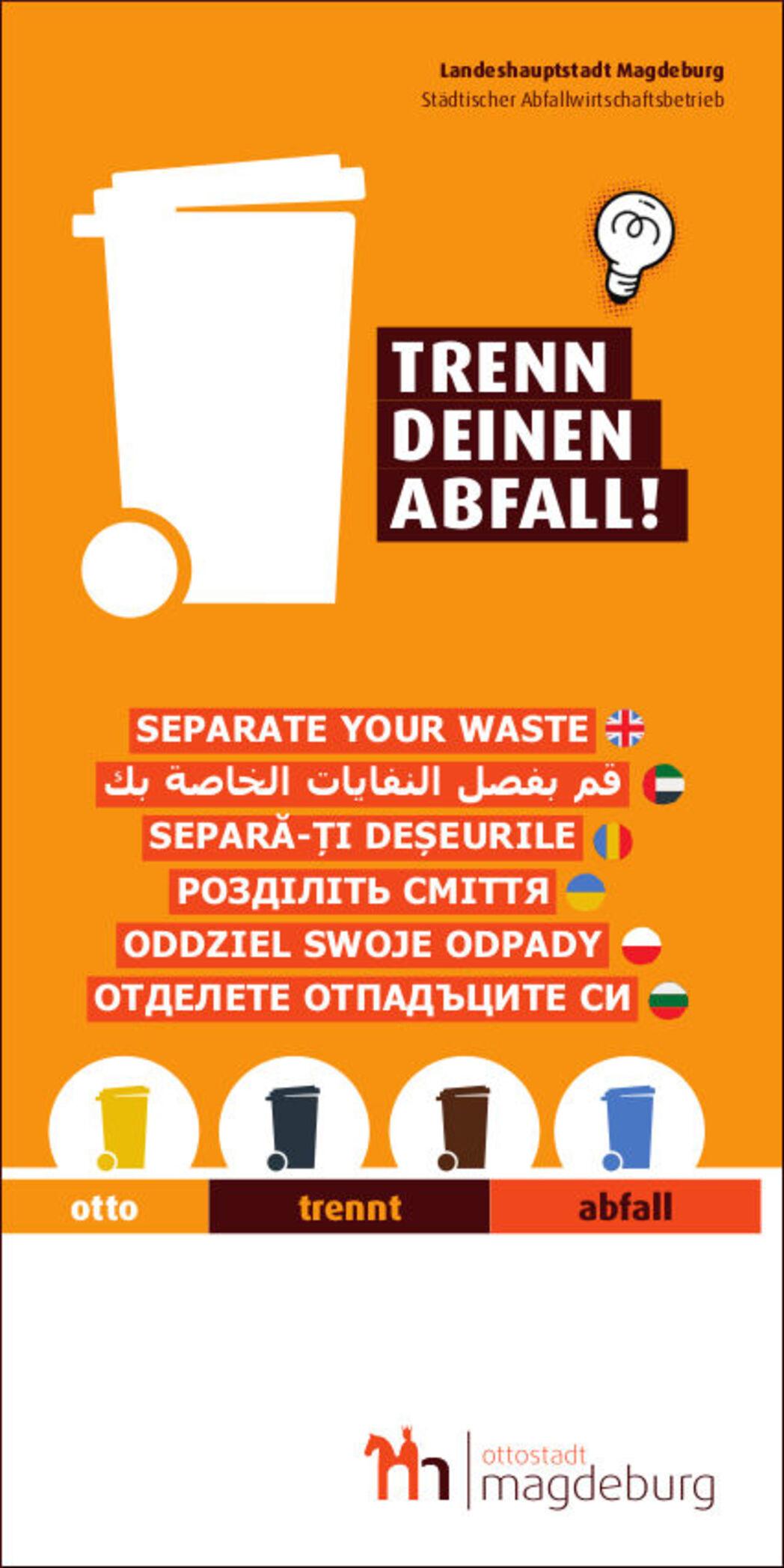 Titel Abfalltrennflyer mehrsprachig