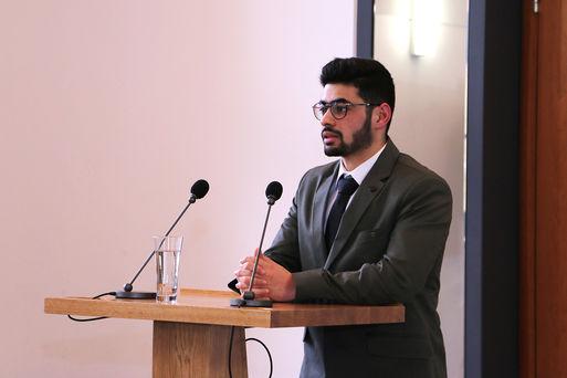 Mohammed Rafea Kanaan am Rednerpult