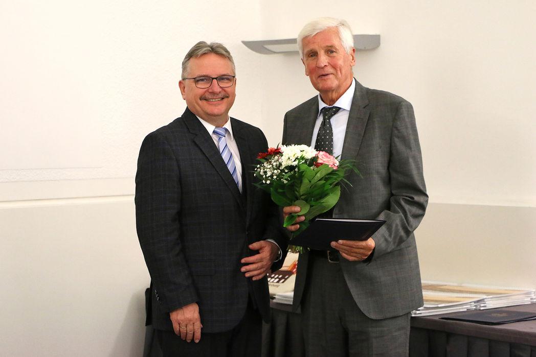 Bürgermeister Klaus Zimmermann und Herr Ingo Dölle