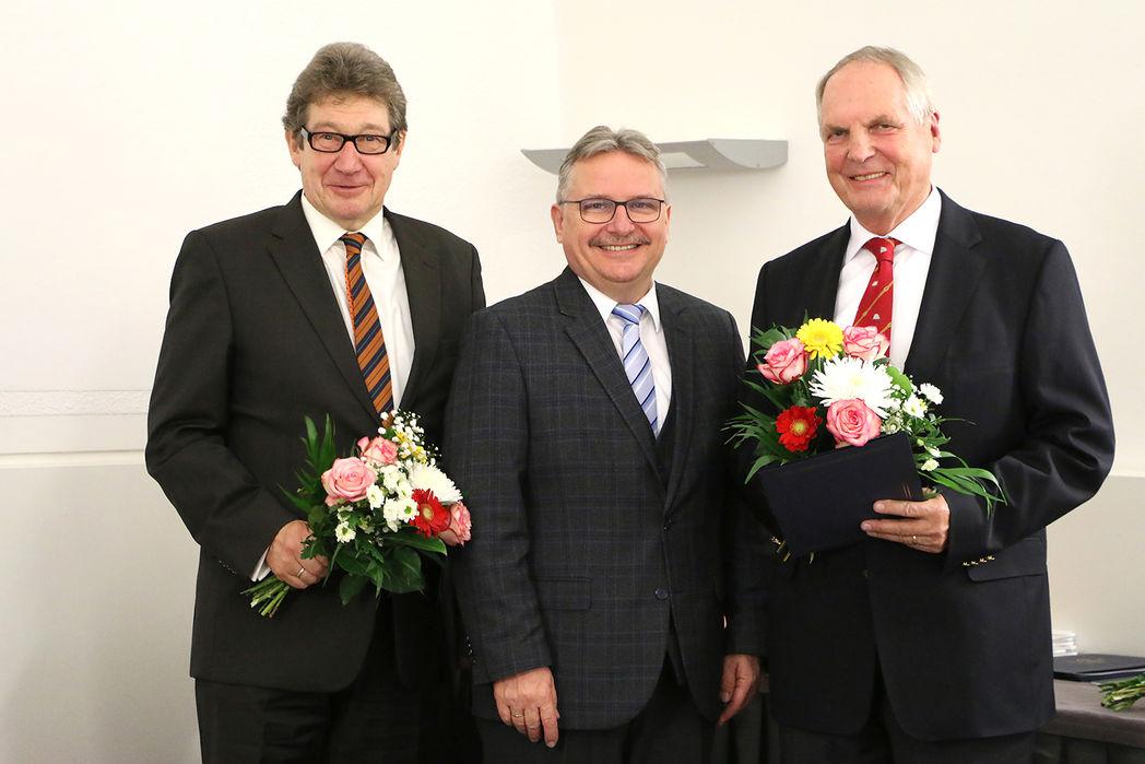 Manfred Tischer, Bügermeister Klaus Zimmermann, Dr. Friedrich Leffler