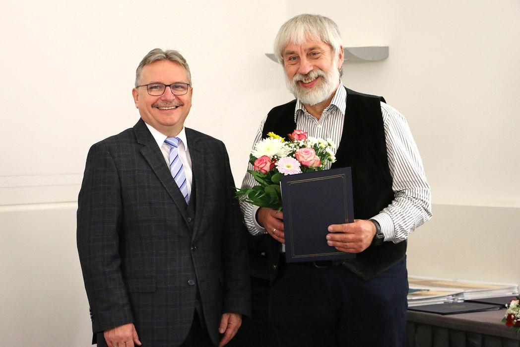 Bürgermeister Klaus Zimmermann und Jürgen Lehmann