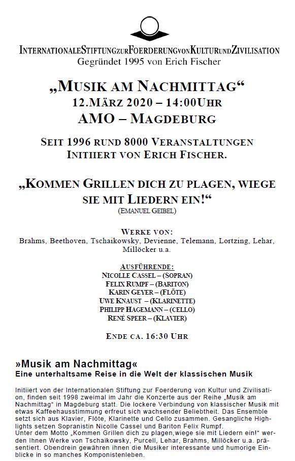 Musik am Nachmittag - AMO Magdeburg