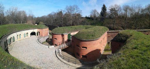 Teilsanierte Magdeburger Festungsanlage Ravelin 2