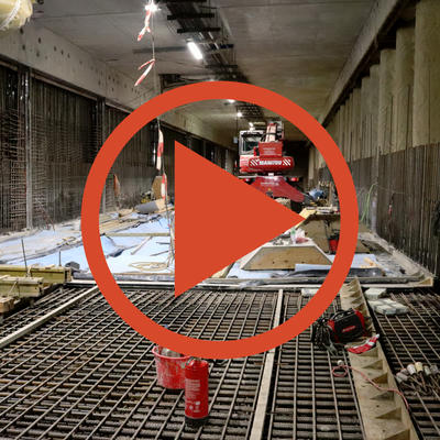 Video: Betonage der Tunnelsohle
