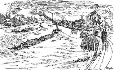 Wilhelm Giese: Elbe bei Buckau / Blick Richtung Süden