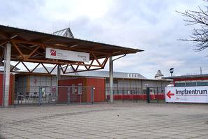 Eingangsbereich des Magdeburger Impfzentrums