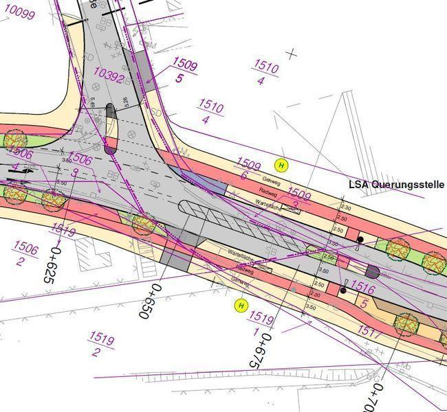 Vorplanung Schanzenweg/Hettstedter Straße - Lageplanausschnitt