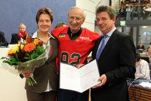 Verleihung des Ehrenbotschaftertitels an Bob Bogen