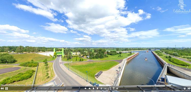 Externer Link: Vorschau 360° Panorama Wasserstraßenkreuz Magdeburg
