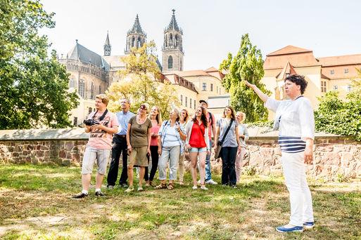 Stadtrundgang öffentliche Führung ©Andreas Lander, Magdeburg Marketing