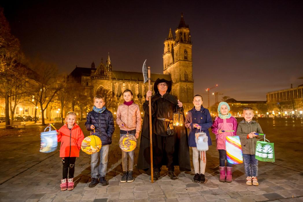 Lampion- und Lichterführung für Kinder ©Magdeburg Marketing, Foto: A. Lander