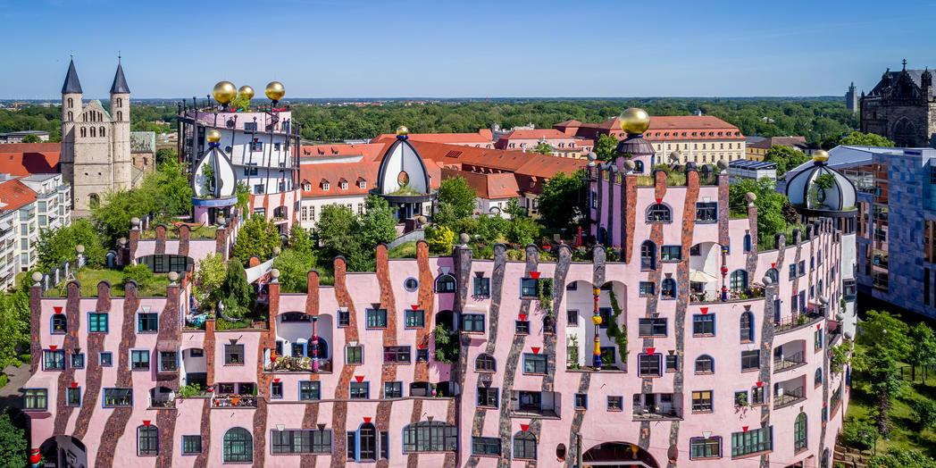 die Grüne Zitadelle von Magdeburg ©www.AndreasLander.de