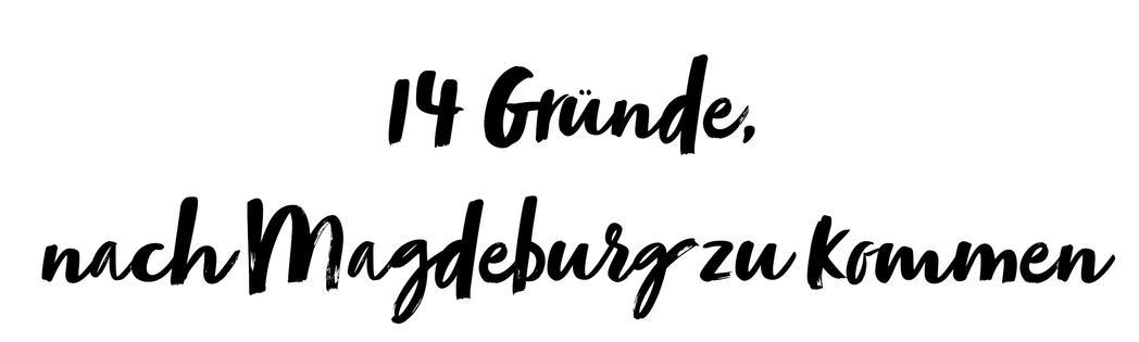 14 Gründe, nach Magdeburg zu kommen