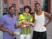 Harbin CampusLuiz aus Angola, Adam aus den USA