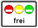 Zusatzzeichen zu Verkehrszeichen 270.1