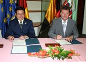 Unterzeichnung Städtepartnerschaft zwischen Magdeburg und Harbin.